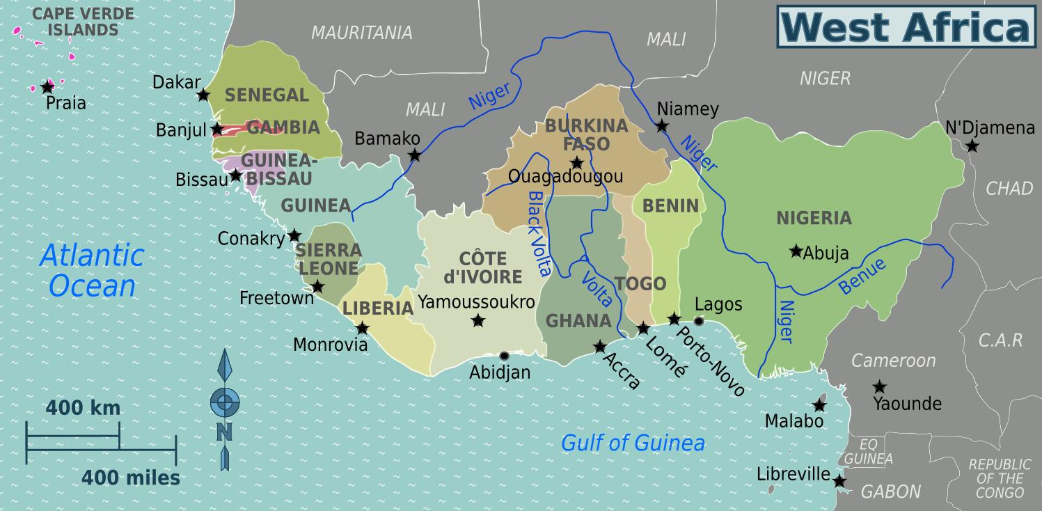 Africa Occidentale Cartina.Mappa Del Ghana Africa Occidentale Mappa Del Ghana